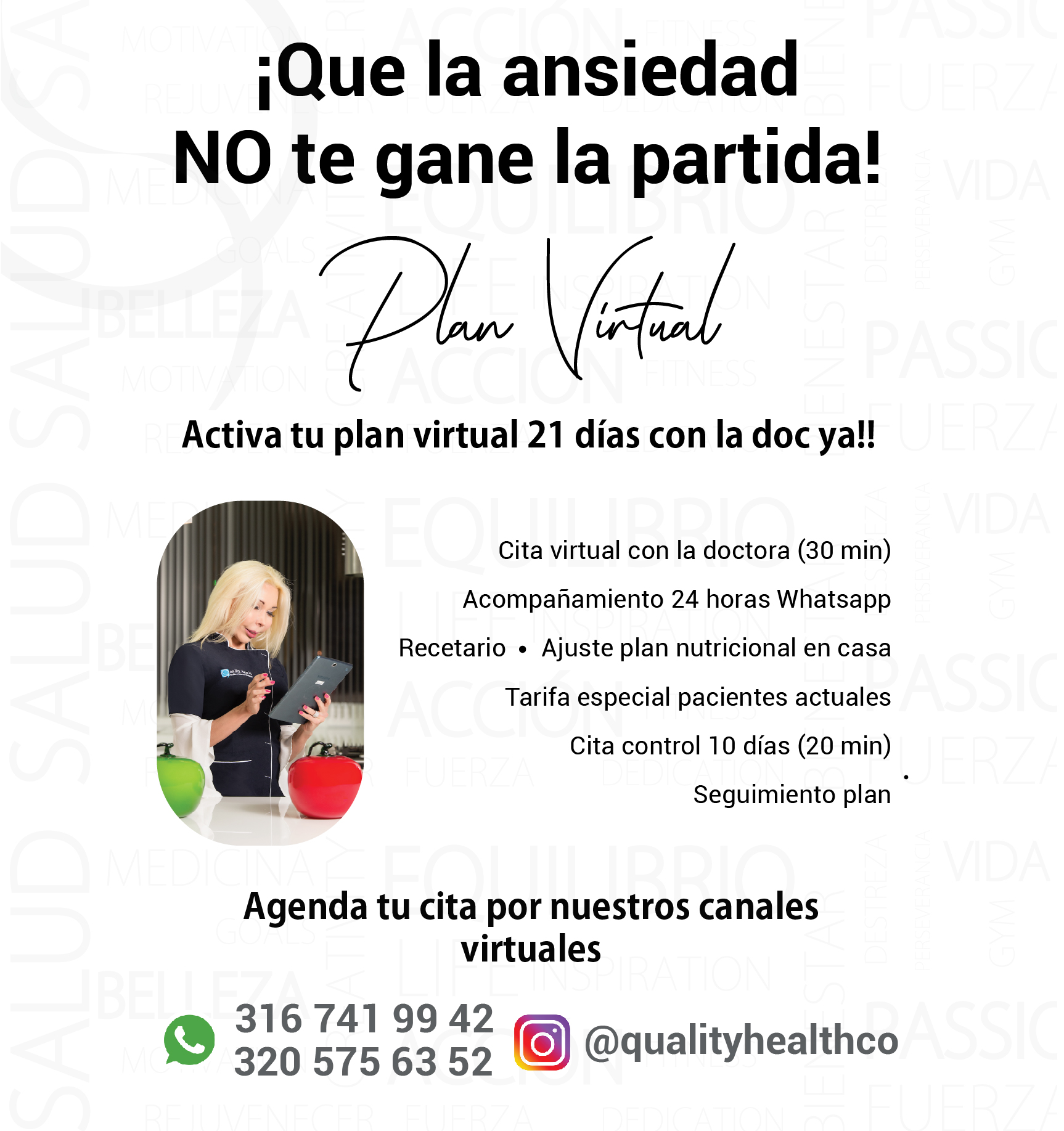 Plan Nutricional Virtual 21 días Quality Health